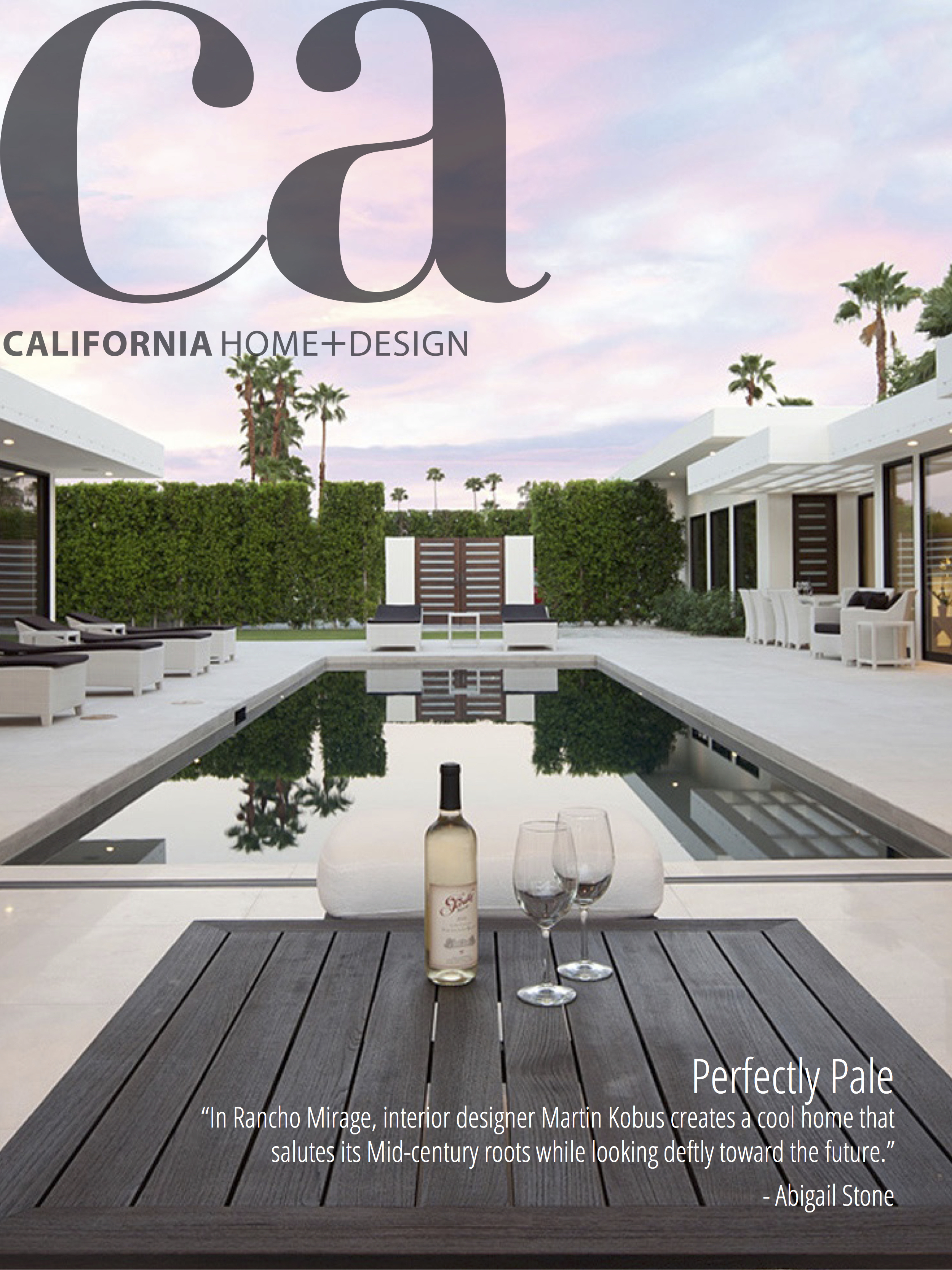 California Home Design Magazine Martin Kobus
